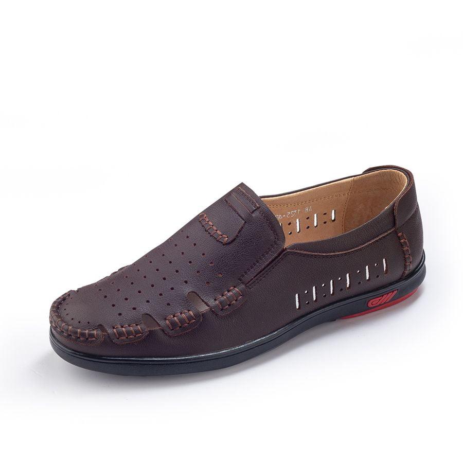 Giày da mọi nam hàng hiệu AB-M239 được thiết kế với nhiều lỗ nhỏ li tí giúp thoáng hơi tránh cảm giác chật chội khi mang giày
