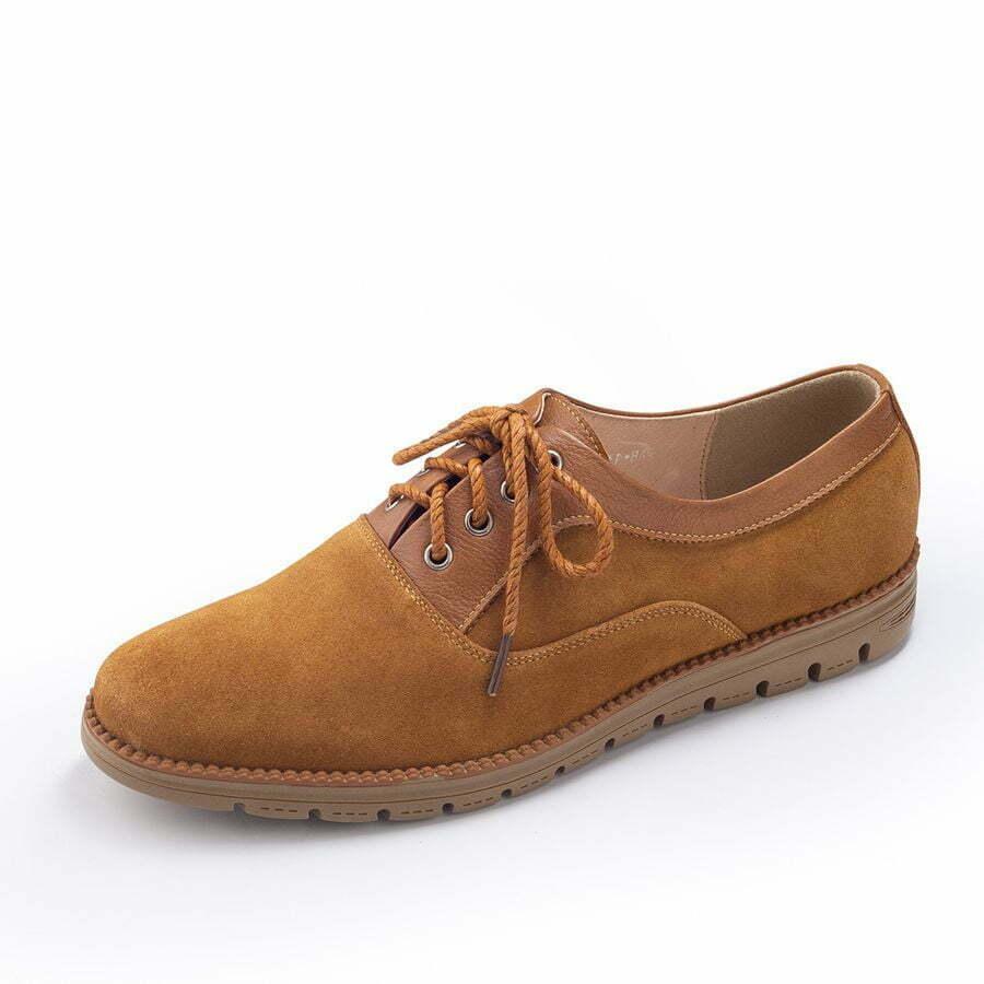Họa tiết trên thân giày da lộn AB-M221 mang đến sự sang trọng và thu hút. Cùng đế cao su đúc cao cấp, có màu nâu nhạt hài hòa. Thiết kế êm ái và dễ chịu.